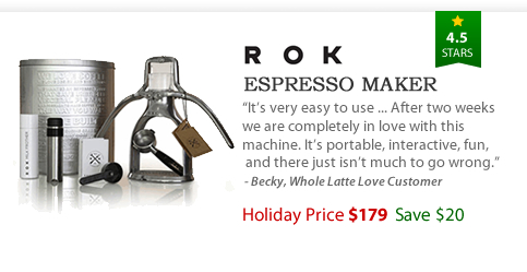 ROK Espresso Maker - $179 - Save $20