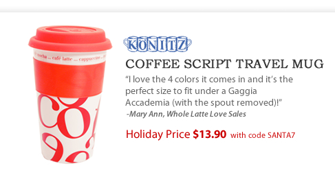 Coffee Script Collage Travel Mug - $13.90 with code SANTA7