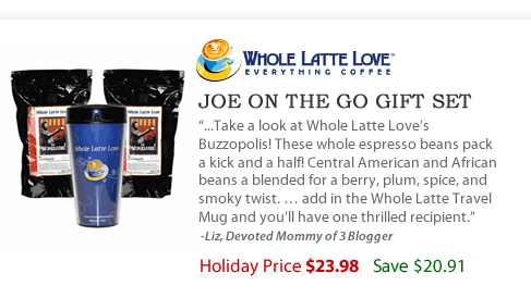 Joe on the Go Gift Set - $23.98 - Save $20.91