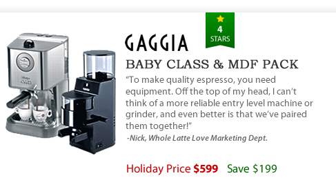 Gaggia Baby Class and MDF Pack - $599 - Save $199