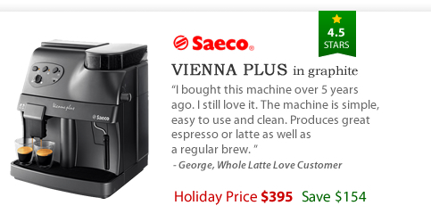 Saeco Vienna Plus in Graphite - $395 - Save $154