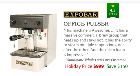Expobar Office Pulser - $999 - Save $150