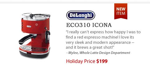 Delonghi ECO310 Icona Semi-automatic Espresso Machine - $199