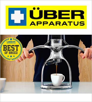 ROK Espresso Maker featured in Uber Apparatus