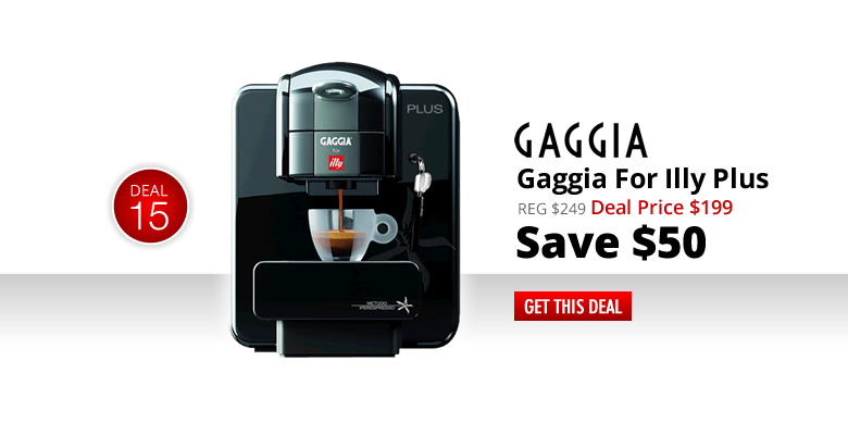 Gaggia For Illy Plus - Deal Price: $199 - Save $50