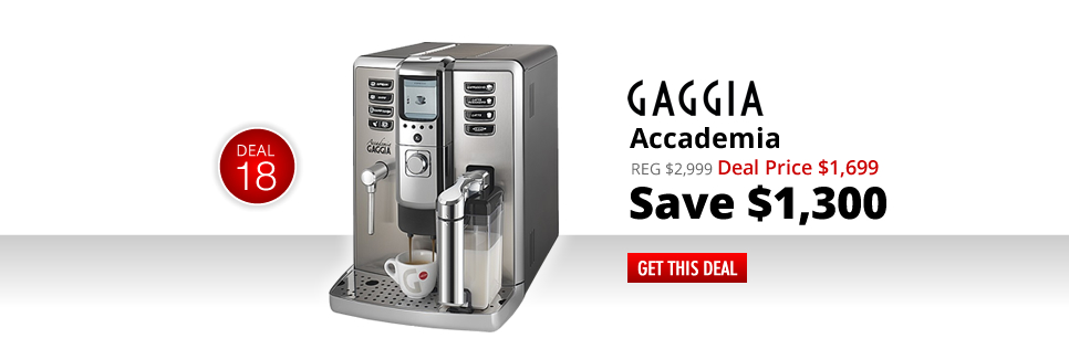 Gaggia Accademia - Deal Price: $1,699 - Save $1,300