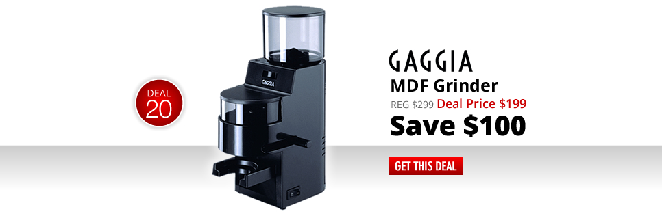 Gaggia MDF Grinder - Deal Price: $199 - Save $100