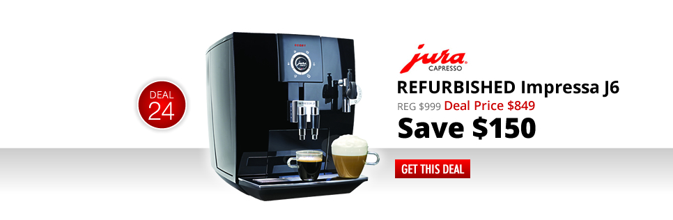 Refurbished Jura-Capresso J6 - Deal Price: $849 - Save $150