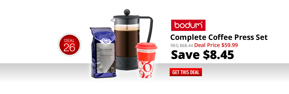 Complete Coffee Press Gift Set - Deal Price: $59.99 - Save $8.45