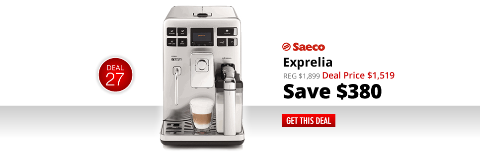 Saeco Exprelia - Deal Price: $1,519 - Save $380