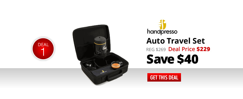 Handpresso Auto Travel Set - $229 - Save $20