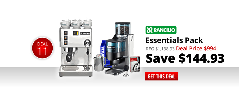 Rancilio Silvia and Rocky Doser Essentials Pack - Deal Price: $994 - Save