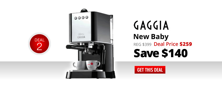 Gaggia New Baby - Deal Price $229 - Save $140 - Get This Deal