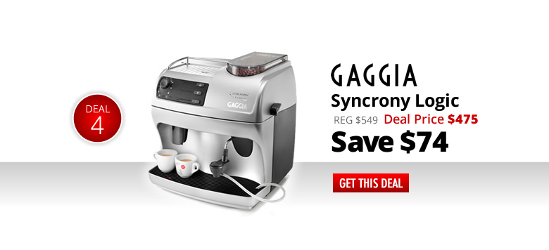 Gaggia Syncrony Logic RS - Deal Price: $475 - Save $74 - Get this Deal