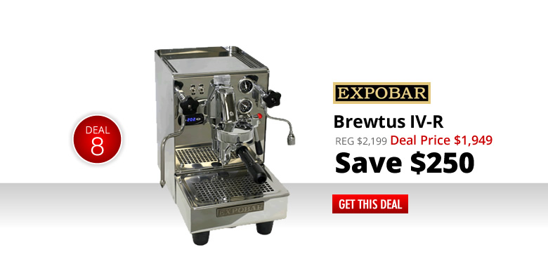 Expobar Brewtus IV-R - $1949 - Save $250
